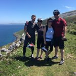 A short break and a beautiful view during our bike ride through the Burren!