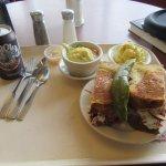 NY Reuben, mazzo ball soup, potato salad