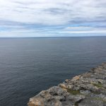 The edge of the cliff at Dun Aengus (ancient fort); no barriers!