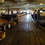 On the gun deck. HMS Victory.