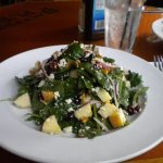 apple, cranberry & spinach salad