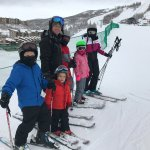 The whole family after ski school was done.