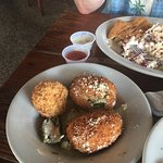 Delish-crap and shrimp stuffed jalapeños
