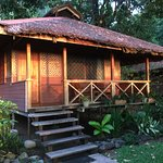 Walindi bungalow in the morning sun