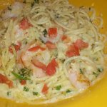 MONTEREY SHRIMP PASTA - They left the mushrooms off mine due to a food allergy.