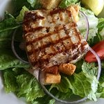 Grilled amberjack salad with the house dressing