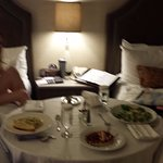 Enjoying room service for our first time:)