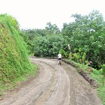 Down Hill from Vanira Lodge on free bike hire