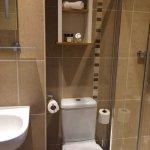 Peony room bathroom, large shower