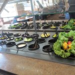 The salad bar at the HiLo Cafe