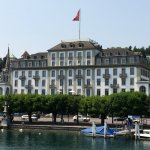 Hotel from Lake Lucerne
