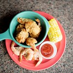 Fried butterfly shrimp and Cajun boiled shrimp are served on Friday nights.