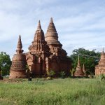 Stupa and Shrines on the hotel grounds, a common sight in Bagan.