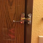 Broken security latch