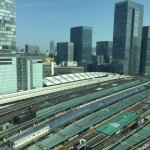 View of Tokyo train station from room 1503