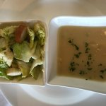 set lunch with salad and soup