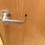 Hole in bathroom door