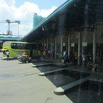 Boarding area at Cebu South Terminal Bus Station