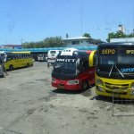 Buses at Cebu South Terminal Bus Station