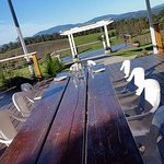 Great outdoor tables too