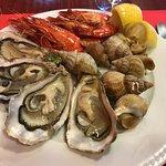 Starter - Oysters, Prawns, Welks