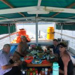 Lunch on the boat.