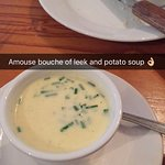 amuse-bouche: a delicious and creamy leek and potato soup