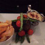Mouth watering fillet steak with peppercorn bernaise sauce