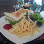 club sandwich in the lobby lounge