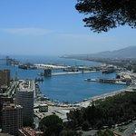 View from room of Parador de Malaga Gibralfaro