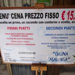Fixed price menu (for dinner only, two courses, a side dish, and water for 15 Euros)