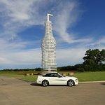 66' tall bottle w/ straw