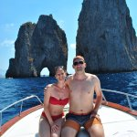 Fantastic private boat tour on our honeymoon
