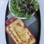 Tarteflette and salad