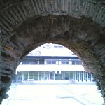 Through one of the Archways of the Roman Wall.