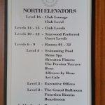 North Elevators floor levels