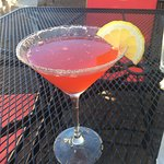 Tasty raspberry lemon drop.