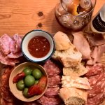 Irish and continental meat board.