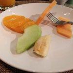 Fresh fruits were good