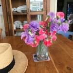 I picked these sweet peas from my garden.