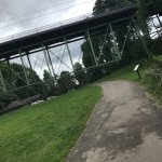 The trail under the Thurman St. bridge has picnic tables perfect for a picnic