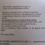 The smoke free notice
