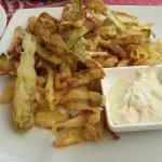 chips de courgettes tsatsiki