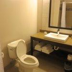 Adequate bathroom counter space