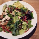 Santa Fe Salad. Greens with chicken, beans, avocado & cheese