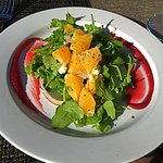 Refreshing and colorful orange and onion salad