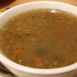 Portobello Quinoa Soup - light but tasty broth similar in style to a miso soup