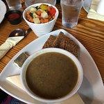 mushroom soup and stir-fry vegetables