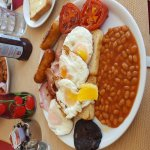 Lorry driver at the greasy spoon