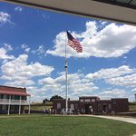 The Flag Pole in the center of Fort McHenry.